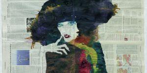Frau im Bild