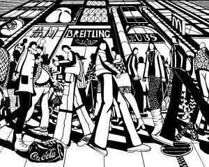 La vie en ville. 9e exposition suisse de papiers découpés