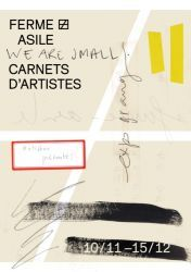 We are small. Carnets d'artistes