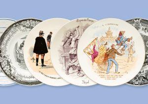 Assiettes parlantes - Décors historiés imprimés sur faïence fine au 19e siècle