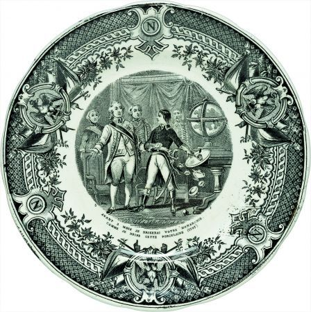 Speaking plates - printed narrative scenes on 19th century creamware