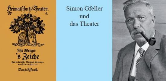 Simon Gfeller und das Theater