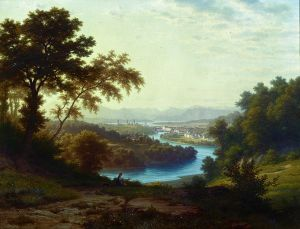 Robert Zünd (1827-1909), Tobias Madörin (*1965). Bellevue