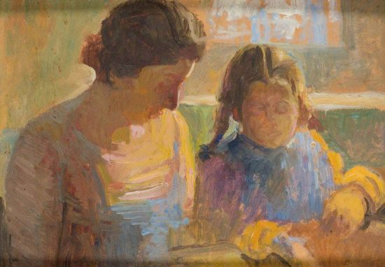 Carlo Basilico (Rancate, 1895 - Mendrisio, 1966) Malen als die Seiten eines Tagebuchs