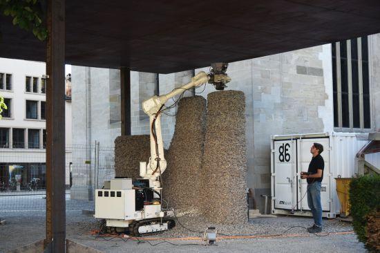 Rock Print Pavilion. Ein Roboter baut für Menschen
