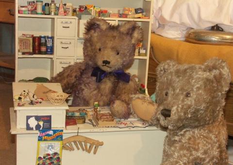 Bären im grünen Zimmer, Teddybärmuseum Baden