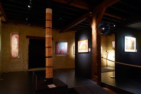 Vue générale de l'étage inférieur du musée