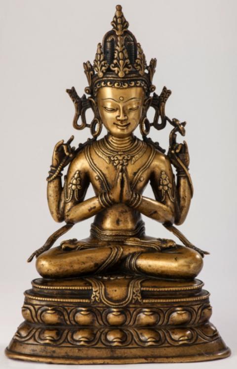Avalokitesvara - 14ème - Tibet - Laiton