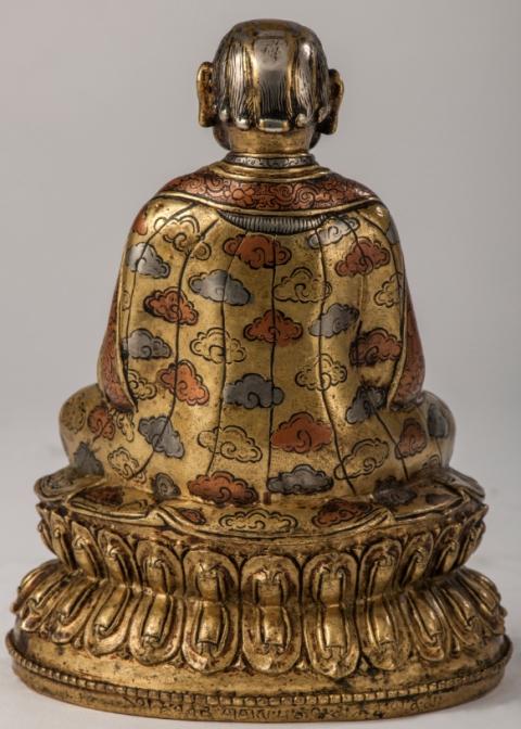 Grags-pa rgyal-mtshan (dos) - 15ème - Tibet - Laiton