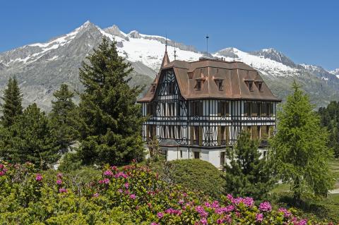 Das Pro Natura Zentrum Aletsch mit Sitz in der Villa Cassel.
