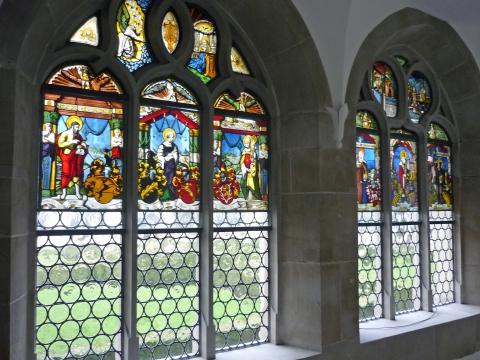 Renaissancescheiben im Kreuzgang Kloster Muri