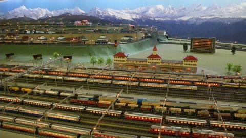 Teilansicht Hobby-Eisenbahn Spur 0
