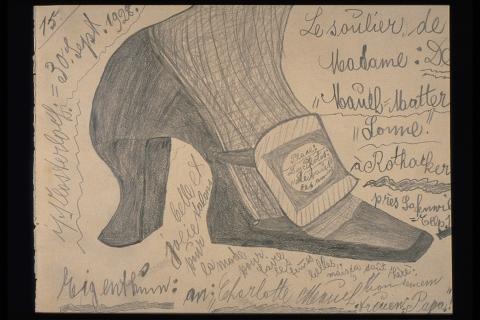 """Karl M. 1886–1942, """"Le soulier de Madame"""", 1928, 20x26 cm"""