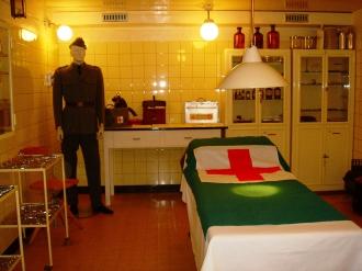 Operationsraum im Spital in der Festung