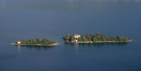 Vista panoramica delle Isole di Brissago