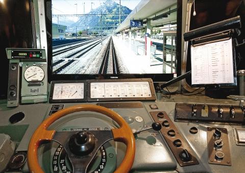 Simulateur de conduite Ae 6/6  Fahrsimulator Ae 6/6