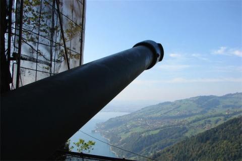 Die Geschütze waren Richtung Thun gerichtet.