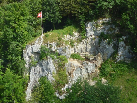 Bunkeranlage aus der Vogelperspektive West