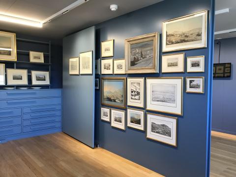 Einblick ins Museum im 1. Obergeschoss