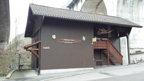 Der alte Dreschschopf wurde 2012 zum Dorfmuseum umgebaut.
