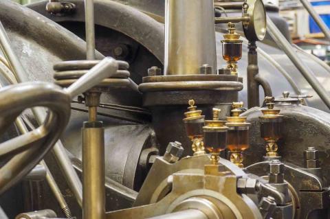 Detail einer Sulzer Tandemmaschine mit 750 PS
