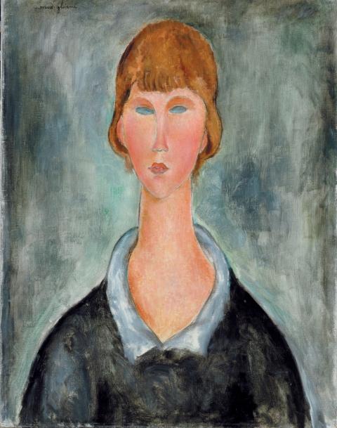 Amedeo Modigliani, Portrait de jeune femme, 1918-19