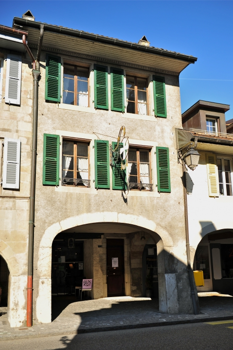 La façade extérieure.