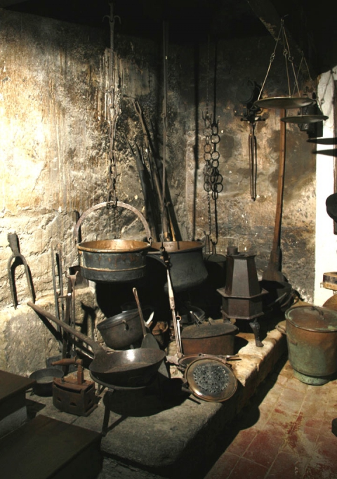 The kitchen, 17th century