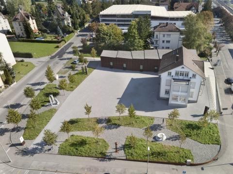 Kunsthaus Grenchen, Vogelperspektive, (c) KHG, Gemperle