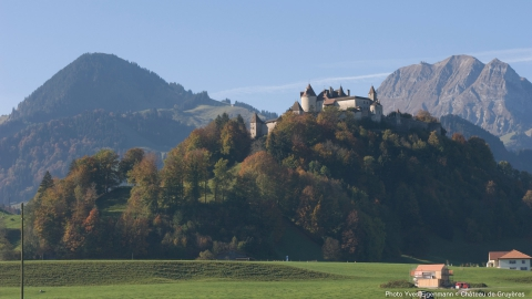 Castle of Gruyères and the Mountain Moléson