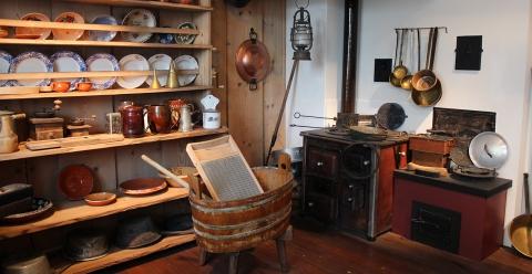 Kücheneinrichtung des 19. Jahrhunderts.