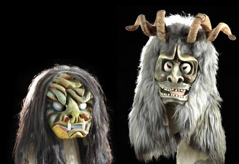 Lötschentaler Masken, spätes 20. Jahrhundert