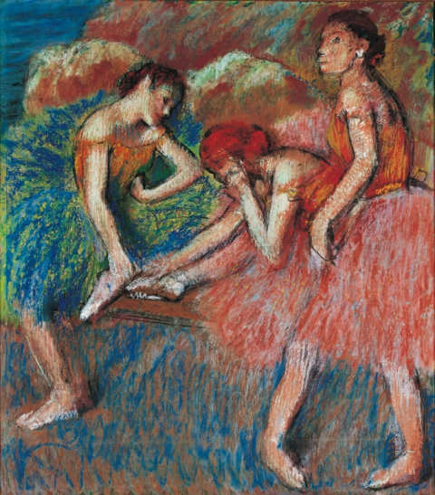 Edgar Degas, Danseuses (Danseuses au repos), vers 1898