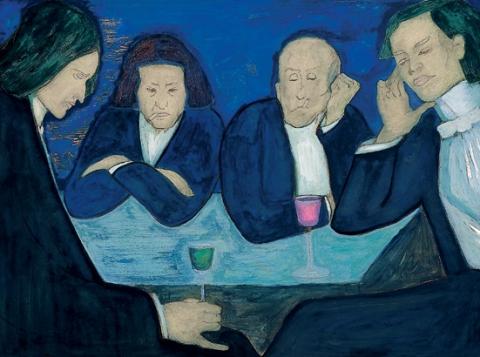 Marianne Werefkin, Au Café, 1909