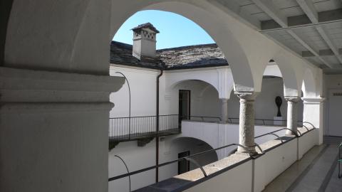 Museo Casa Rusca Locarno -corte interna