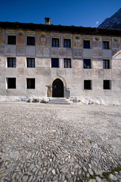 La sede del museo, il Palazzo dei Landfogti di Lottigna