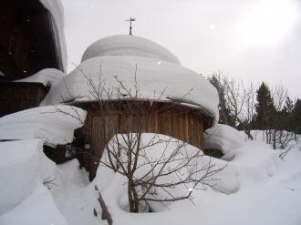 Atelier Segantini im Winter