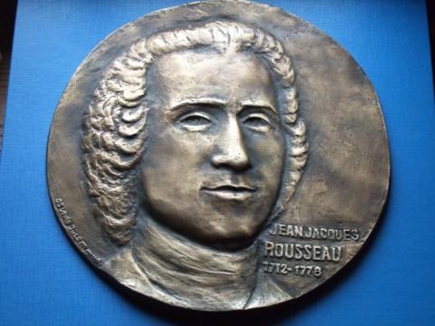 Rousseau d'après La Tour par Louis Ducommun