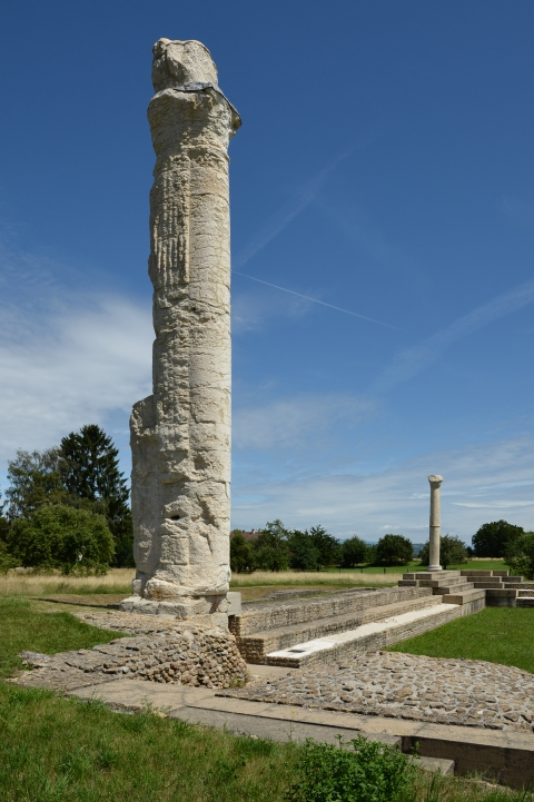 Aventicum, sanctuaire du Cigognier. Photo Paul Lutz, SMRA