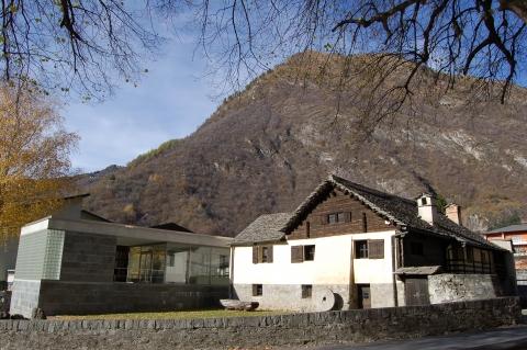 La parte vecchia e la parte nuova del museo