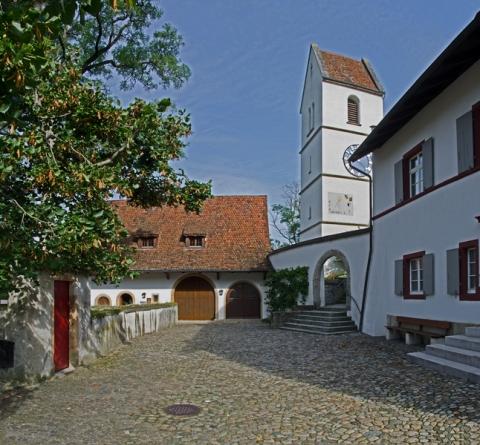 Museum OWA innerhalb der Kirchenanlage von Oltingen