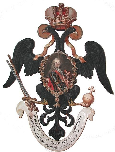Funeralemblem Franz I., Kaiser des Hl. Röm. Reiches, 18. Jh.