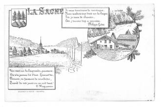 Carte postale dessinée par Oscar Huguenin