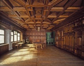 Prunkzimmer des St. Galler Fürstabtes Joachim Opser. 1580.