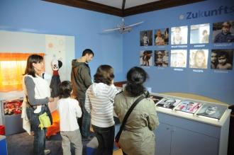 Blick in das blaue Zimmer des Kindermuseums