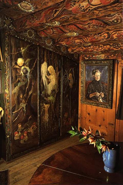 Das Bärenzimmer im Mili Weber-Haus, St. Moritz