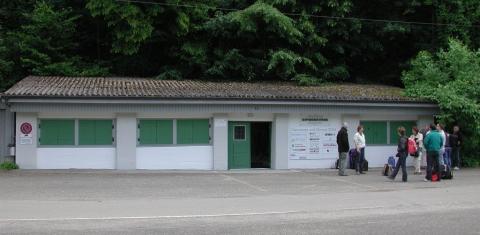 Durch das Museum gelangen die Besucher in den Gipsstollen