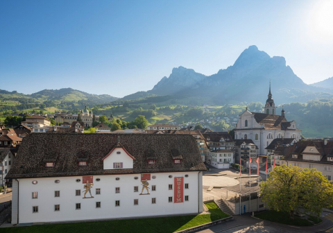 The museum is located in the heart of the small town of Schwyz.