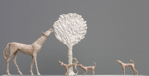 Diego Giacometti, 'la promenade des amis', 1976