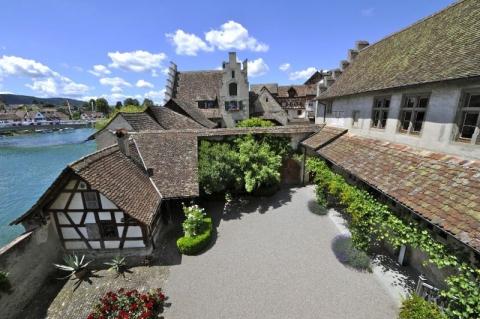 Innenhof von Kloster Sankt Georgen. Foto: Sacha Geiser